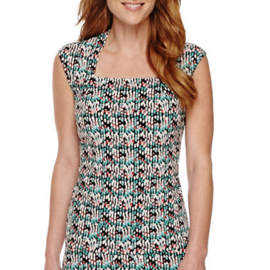 jcpenney.com | Black Label by Evan-Picone Sleeveless Print Top