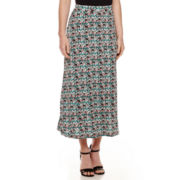 Black Label by Evan-Picone Print Maxi Skirt