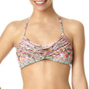 Arizona Gypsy Beaded Fringed Bralette Swim Top - Juniors
