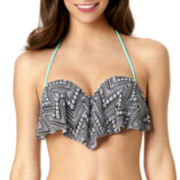 Arizona Chevron Flounce Bandeau Swim Top - Juniors