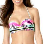 Arizona Dream Tropical Macramé Bandeau Swim Top - Juniors