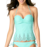 Arizona Lasercut Bandeau Tankini Swim Top - Juniors