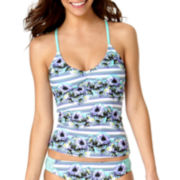 Arizona Daisy Daze Floral Tankini Swim Top - Juniors
