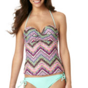 Arizona Chevy Twisted Bandeaukini Swim Top - Juniors
