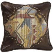 HiEnd Accents Ruidoso Scalloped Square Decorative Pillow