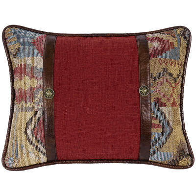 HiEnd Accents Ruidoso Red Oblong Decorative Pillow