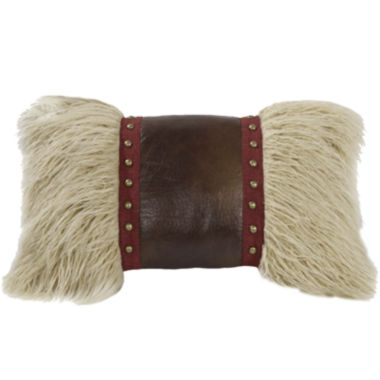 jcpenney.com | HiEnd Accents Ruidoso Faux-Fur Studded Oblong Decorative Pillow