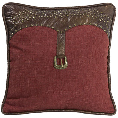 HiEnd Accents Ruidoso Feather Square Decorative Pillow
