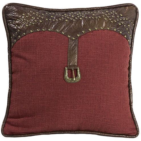 HiEnd Accents Ruidoso Feather Square Decorative Pillow