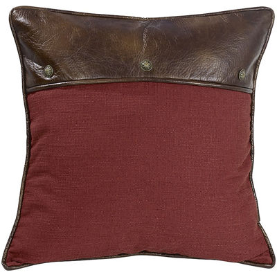 HiEnd Accents Ruidoso Faux-Leather Euro Sham