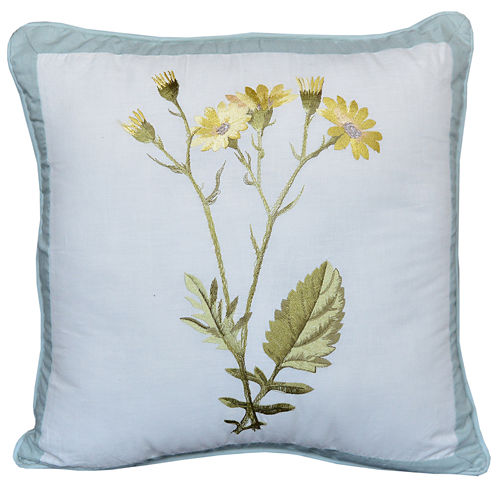 Nostalgia Home Josephine Yellow Bouquet Square Decorative Pillow