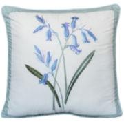 Nostalgia Home Josephine Blue Bouquet Square Decorative Pillow