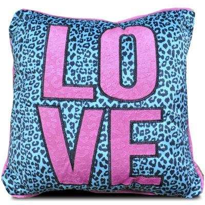 Seventeen® Pop Cheetah Love Square Decorative Pillow