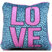 Seventeen® Pop Cheetah Love Square Decorative Pillow