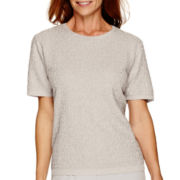 Alfred Dunner® Crystal Springs Short-Sleeve Sweater Shell