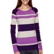 St. John's Bay® Long-Sleeve Mossy Ballet-Neck Sweater