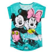 Disney Apparel by Okie Dokie® Minnie Tie-Front Tee - Preschool Girls 4-6x