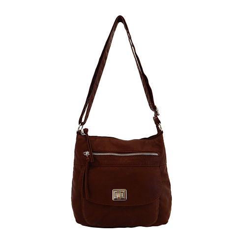 Bueno of California Washed Top-Zip Crossbody Bag