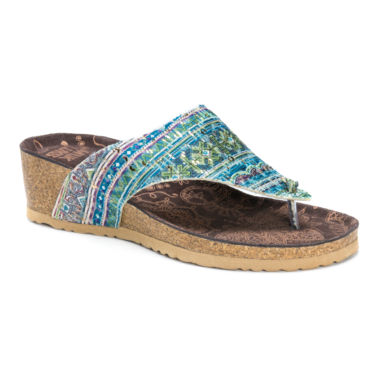 jcpenney.com | Muk Luks® Sue Ellen Wedge Sandals