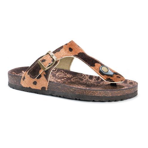 Muk Luks Tina Womens Flat Sandals