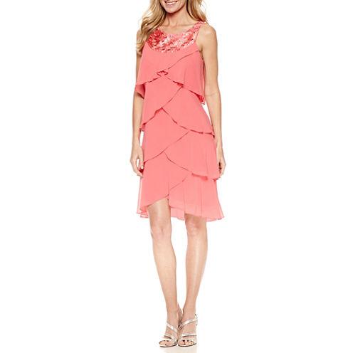 S. L. Fashions Sleeveless A-Line Dress
