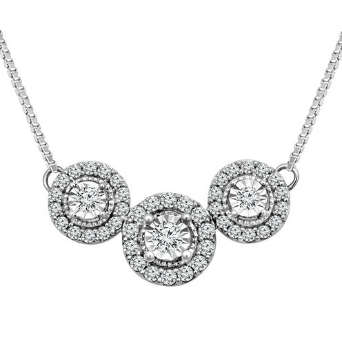 LIMITED QUANTITIES!  1/3 CT. T.W. Diamond 10K Gold Collar Necklace