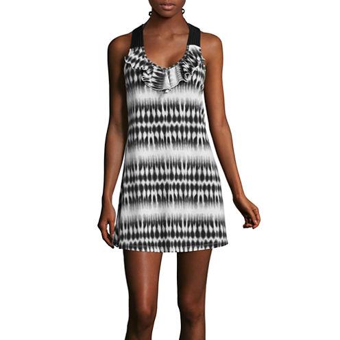 a.n.a® Sleeveless Ruffle-Front Dress