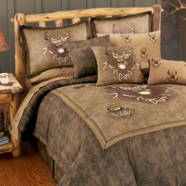 jcpenney.com | Blue Ridge Trading Whitetail Ridge Comforter Set Queen 4-pc. Heavyweight Comforter Set