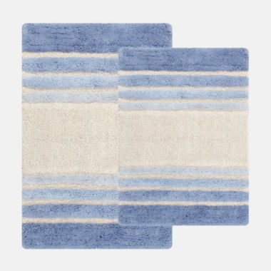 jcpenney.com | Chesapeake Merchandising Tuxedo Stripe 2-pc. Bath Rug Set