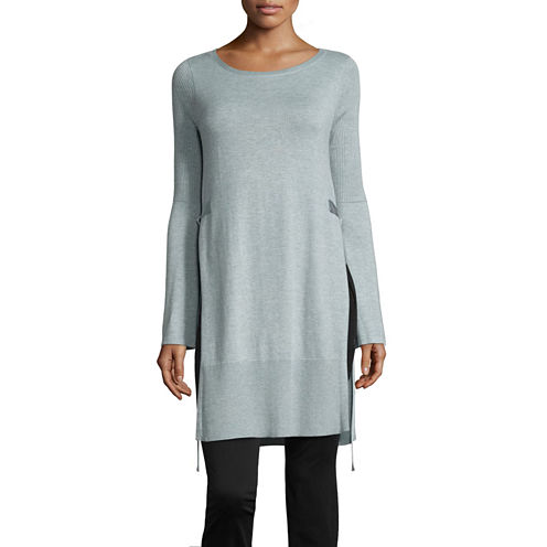 Worthington Side Slit Tunic Sweater