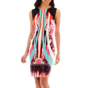 Bisou Bisou® Sleeveless Print Sheath Dress