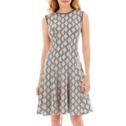 Danny & Nicole® Sleeveless Textured Fit-and-Flare Dress