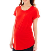 a.n.a® Maternity Short-Sleeve Boyfriend Tee - Plus