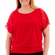 Alyx® Short-Sleeve Shadow-Striped Banded Top