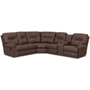 jcpenney.com | Brinkley 5-pc. Leather Power-Reclining Motion Sectional