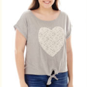 Arizona Dolman-Sleeve Tie-Front Tee - Plus