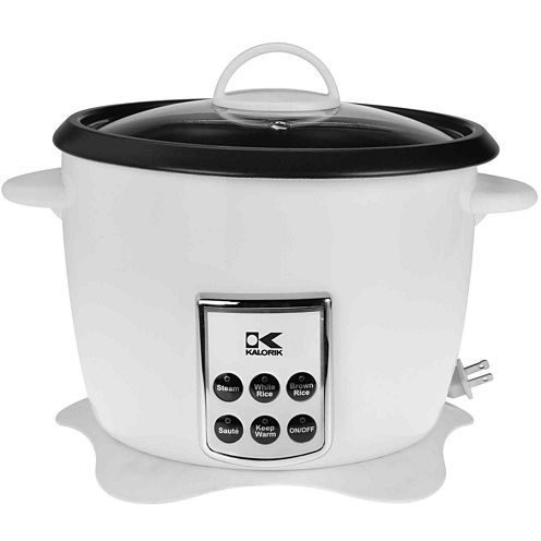 Kalorik® Multifunction Digital Rice Cooker with Retractable Power Cord