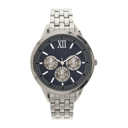 Womens Silver-Tone Dial Silver-Tone Bracelet Watch