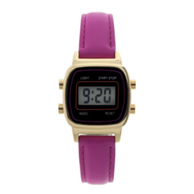jcpenney.com | Womens Square Dial Pink Strap Digital Watch