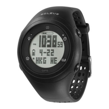 jcpenney.com | Soleus GPS Fly Black Silicone Strap Running Digital Sport Watch