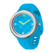 Columbia® Escapade Gem Womens Blue Silicone Strap Watch