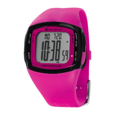 jcpenney.com | Soleus Rhythm Womens Pink Digital Heart Rate Monitor Watch