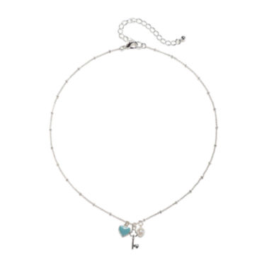 jcpenney.com | Mixit™ Silver-Tone Heart and Key Pendant Necklace