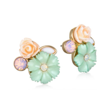 jcpenney.com | Mixit™ Gold-Tone Flower Cluster Stud Earrings
