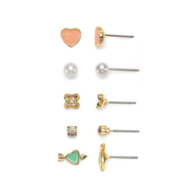 jcpenney.com | Mixit™ Gold-Tone 5-pr. Stud Earring Set