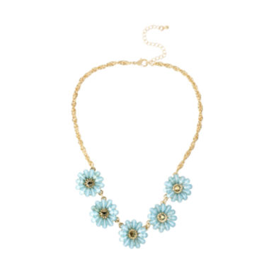 jcpenney.com | Mixit™ Gold-Tone Blue Flower Collar Necklace