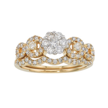 jcpenney.com | LIMITED QUANTITIES 3/4 CT. T.W. Diamond 14K Two-Tone Gold Ring Set