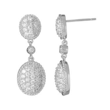 jcpenney.com | LIMITED QUANTITIES  Genuine White Zircon Sterling Silver Drop Earrings