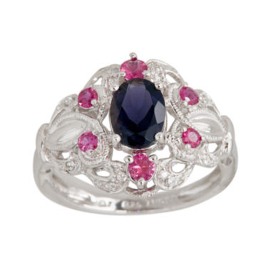 jcpenney.com | LIMITED QUANTITIES  Genuine Iolite and Lead Glass-Filled Ruby Ring