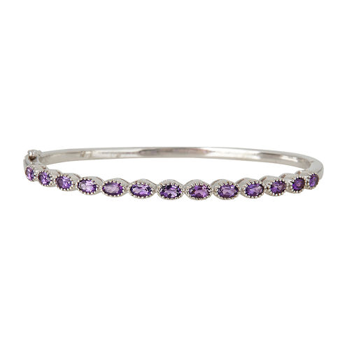 LIMITED QUANTITIES  Genuine Amethyst Sterling Silver Bangle